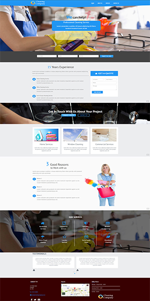 Cleaning business website template kick up the rankings cleaning business website template flashek Choice Image
