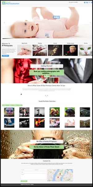 Photographers Website Template