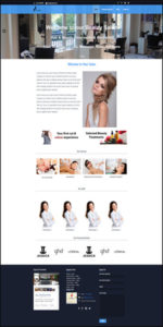 Hair & Beauty Salon Website Template