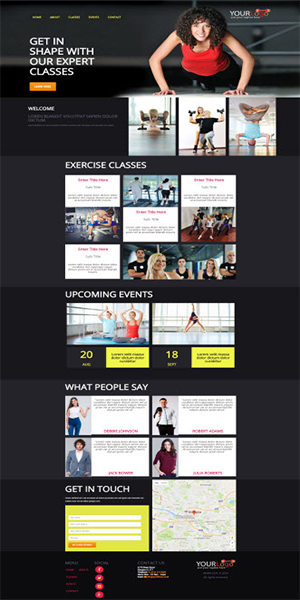 1 Page Parallax Website Template
